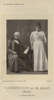Miss Winifred Emery and Mr Brandon Thomas in 'Sowing the Wind', by Alfred Ellis - NPG x9384