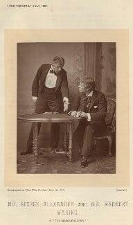 Herbert Waring as Sir Brice Skene; Sir George Alexander as David Remon in 'The Masqueraders', by Alfred Ellis, published 1 July 1894 - NPG x9385 - © National Portrait Gallery, London