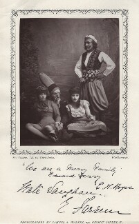 Nellie Farren, Edward Terry, Kate Vaughan and Edward Royce in 'The Forty Thieves', by Samuel Alexander Walker, published by  Charles Dickens & Evans - NPG x9397
