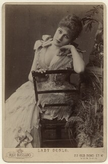 Belle Bilton, by Alexander Bassano, 1889 - NPG x958 - © National Portrait Gallery, London