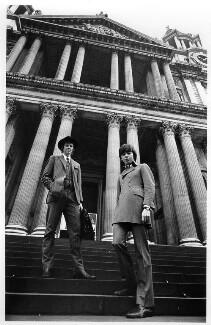 Tim Rice; Andrew Lloyd Webber, Baron Lloyd Webber, by Bryan Wharton, 24 October 1968 - NPG x88637 - © Bryan Wharton