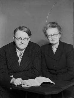 Dorothy Mary Moyle Needham (née Moyle); Joseph Needham, by Walter Stoneman - NPG x96753