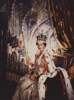 Queen Elizabeth II, by Cecil Beaton, 2 June 1953 - NPG x35390 - © V&A Images