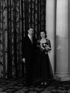 Charles Melville McLaren, 3rd Baron Aberconway; Ann Lindsay (née Aymer), Lady Aberconway, by Navana Vandyk, 15 October 1949 - NPG x97334 - © National Portrait Gallery, London