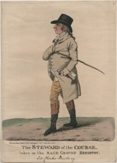 Sir Thomas Charles Bunbury, 6th Bt ('The Steward of the course. Taken on the Race Ground, Brighton'), by and published by Robert Dighton, published December 1802 - NPG  - © National Portrait Gallery, London