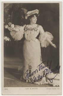 Ada Blanche (Ada Cecilia Blanche Adams), possibly by Alfred Ellis, published by  Rotary Photographic Co Ltd - NPG x999
