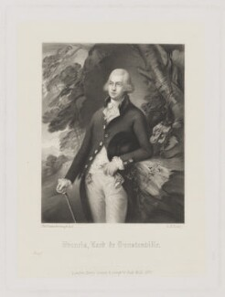 Francis Basset, Baron de Dunstanville and Baron Basset, by George H. Every, after  Henry Graves & Co, after  Thomas Gainsborough, published 1870 - NPG D34843 - © National Portrait Gallery, London