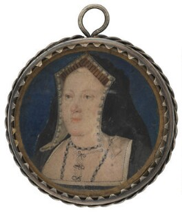 Katherine of Aragon, attributed to Lucas Horenbout (or Hornebolte), circa 1525-1526 - NPG L244 - Private collection; photograph © National Portrait Gallery, London