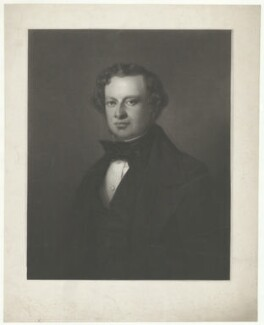 Granville George Leveson-Gower, 2nd Earl Granville, by William Walker, after  (Wilhelm Augustus) Rudolf Lehmann - NPG D34794
