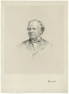 Granville George Leveson-Gower, 2nd Earl Granville, by Joseph Brown, published by  Edward S. Palmer, republished by  H. Lascelles Green - NPG D34796