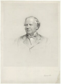 Granville George Leveson-Gower, 2nd Earl Granville, by Joseph Brown, published by  Edward S. Palmer - NPG D34797