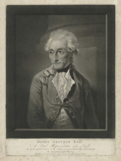 Henry Grattan, by and published by Valentine Green, after  Francis Wheatley - NPG D34799