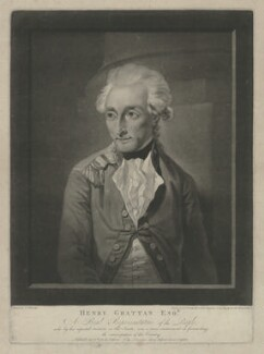 Henry Grattan, by and published by Valentine Green, after  Francis Wheatley - NPG D34800