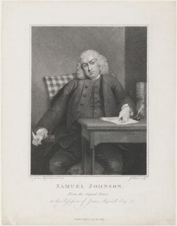 Samuel Johnson, by James Heath, published by  Charles Dilly, after  Sir Joshua Reynolds, published 10 April 1791 (1756-1757) - NPG D34873 - © National Portrait Gallery, London