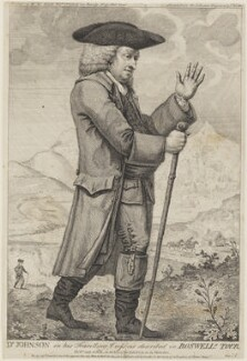 Dr Johnson in his Travelling Dress as described in Boswell's Tour (Samuel Johnson), by Thomas Trotter, published by  George Kearsley - NPG D34874