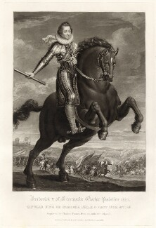 Frederick V, King of Bohemia and Elector Palatine, by Charles Turner, published by  Samuel Woodburn, after  Unknown artist - NPG D34881
