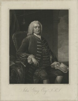 John Gray, by William Bond, after  Thomas Hudson - NPG D34894