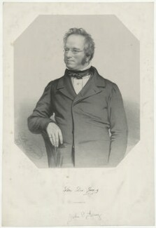 John Edward Gray, by Thomas Herbert Maguire, printed by  M & N Hanhart - NPG D34896