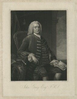 John Gray, by William Bond, after  Thomas Hudson - NPG D34895
