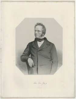John Edward Gray, by Thomas Herbert Maguire, printed by  M & N Hanhart - NPG D34898