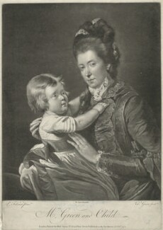 'Mrs Green and Child' (Rupert Green; Mary Green), by Valentine Green, published by  Robert Sayer, after  Pierre-Étienne Falconet - NPG D34903