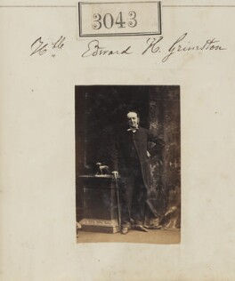 Hon. Edward Harbottle Grimston, by Camille Silvy - NPG Ax52446