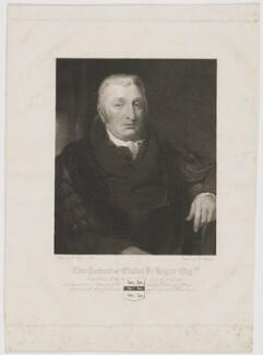 Elisha De Hague, by William Camden Edwards, after  William Hilton - NPG D34854