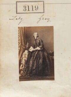 Barbarina Charlotte (née Sullivan), Lady Grey, by Camille Silvy - NPG Ax52520