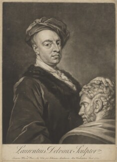 Laurent Delvaux, by Alexander van Aken, after  Isaac Whood - NPG D34862
