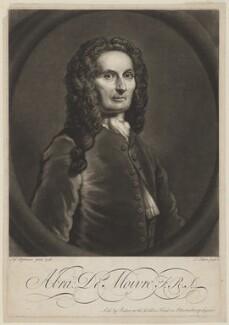 Abraham de Moivre, by John Faber Jr, after  Joseph Highmore - NPG D34865