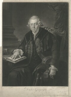 John Gregory, by Richard Earlom, after  Sir George Chalmers - NPG D34919