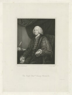 George Grenville, by Thomas Anthony Dean, printed by  McQueen (Macqueen), after  Sir Joshua Reynolds - NPG D34927