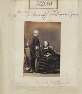 (Wilhelm Augustus) Rudolf Lehmann; Amelia Lehmann (née Chambers), by Camille Silvy - NPG Ax52609