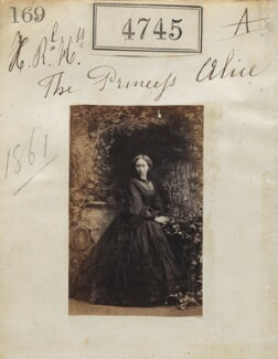 Princess Alice, Grand Duchess of Hesse, by Camille Silvy - NPG Ax54756