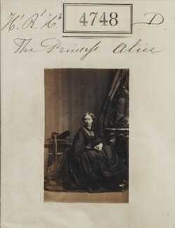 Princess Alice, Grand Duchess of Hesse, by Camille Silvy - NPG Ax54759
