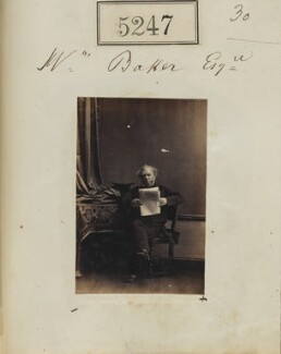 W. Baker, by Camille Silvy, 30 July 1861 - NPG Ax55250 - © National Portrait Gallery, London