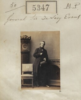 Sir George de Lacy Evans, by Camille Silvy - NPG Ax55307