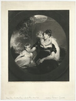 Lady Caroline Barrington (née Grey); Lady Georgiana Grey; Mary Elizabeth Grey (née Ponsonby), Countess Grey, by Samuel Cousins, after  Sir Thomas Lawrence - NPG D34957