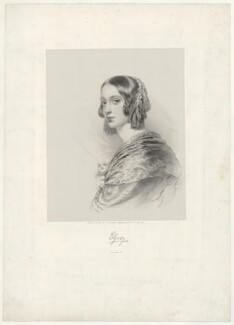 Lady Elizabeth Dorothy Anne Georgiana Grey (née Howard), by Richard James Lane, printed by  M & N Hanhart, after  George Dodgson Tomlinson - NPG D34959