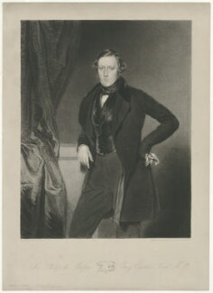 Sir Philip de Malpas Grey-Egerton, 10th Bt, by Samuel William Reynolds Jr, printed by  Lahee & Co, published by  Thomas Agnew, after  John Bostock - NPG D34963