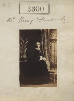 Mary Elizabeth (née Bulteel), Lady Ponsonby, by Camille Silvy - NPG Ax52701