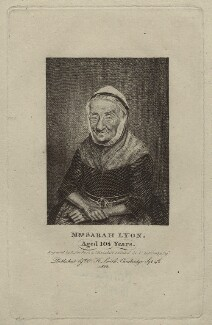 Sarah Lyons, by Robert Roe, published by  W.H. Smith, after  Walter Stephens Lethbridge - NPG D35014