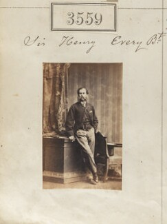 Sir Henry Flower Every, 10th Bt, by Camille Silvy - NPG Ax52955