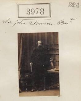 Sir John Simeon, 3rd Bt, by Camille Silvy - NPG Ax53993
