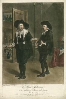 Benjamin Griffin as Tribulation; Benjamin ('Ben') Johnson as Ananias in Ben Jonson's 'The Alchemist' Act III, Scene 2, by Peter van Bleeck - NPG D34968