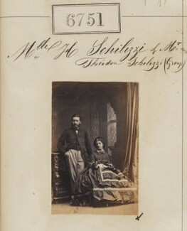 Theodore Emmanuel Schilizzi; Hypatia Schilizzi (née Schilizzi), by Camille Silvy - NPG Ax56677