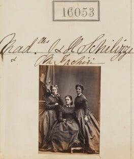 Marietta Fachiri; Zennou ('Jenny') Mavrogordato (née Schilizzi); Hypatia Schilizzi (née Schilizzi), by Camille Silvy - NPG Ax63978