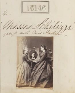 Marietta Fachiri; Hypatia Schilizzi (née Schilizzi); Zennou ('Jenny') Mavrogordato (née Schilizzi), by Camille Silvy - NPG Ax64065