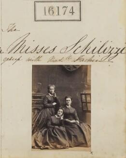 Marietta Fachiri; Hypatia Schilizzi (née Schilizzi); Zennou ('Jenny') Mavrogordato (née Schilizzi), by Camille Silvy - NPG Ax64093