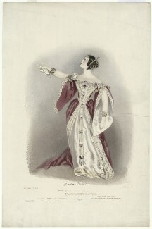 Giulia Grisi as Anna Bolena, by Richard James Lane, printed by  Graf & Soret, published by  John Mitchell, published by  Rittner & Goupil, after  Alfred Edward Chalon - NPG D34975